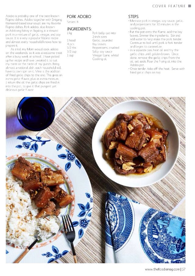My Pork Adobo recipe - Sept 2014