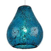 Endon Lighting Audley Blue Mosaic Non Electric Pendant A