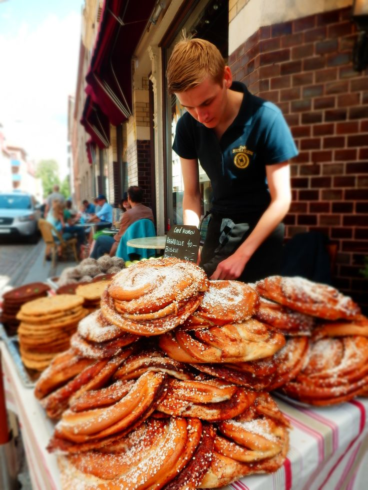 Gothenburg, Sweden: Here they are - the giant cinnamon rolls. They are sooooo yummy!