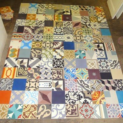 Carreaux de ciment patchwork mosaic del sur deco pinterest mosaics t - Carreaux ciment patchwork ...