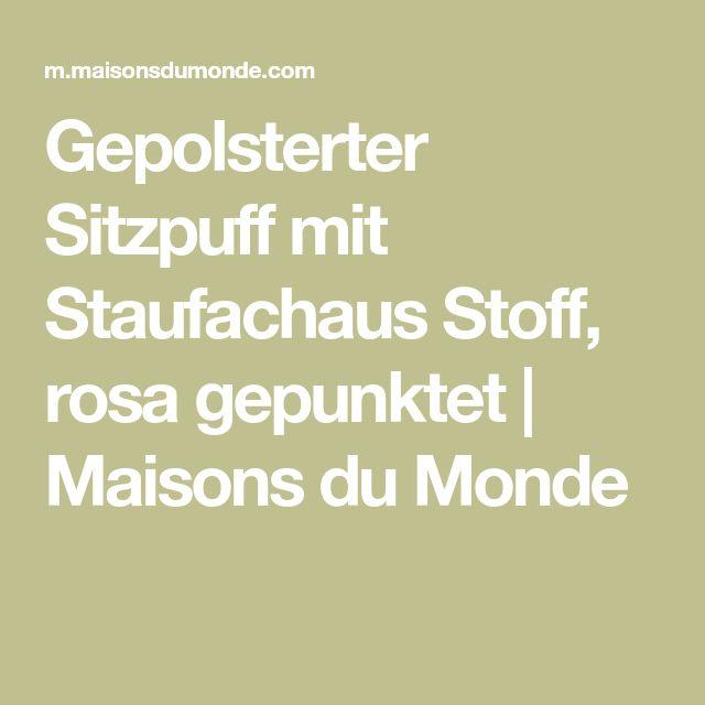 Gepolsterter Sitzpuff mit Staufachaus Stoff, rosa gepunktet | Maisons du Monde
