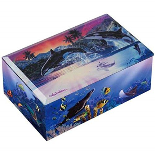 WL SS-WL-23230 Killer Whales Breaching Water World of Orcas Colorful Music Box ** Want to know more, click on the image.