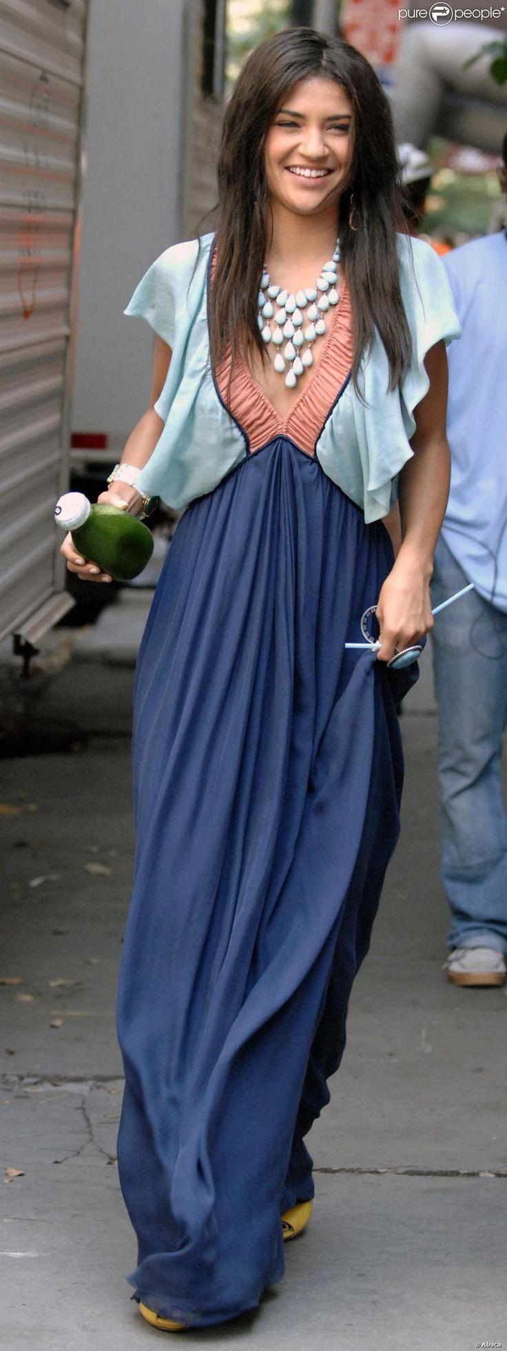 Jessica Szohr sur le tournage de Gossip Girl