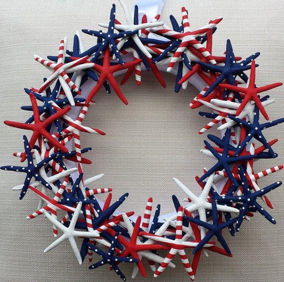 Starfish Wreath Handmade Starfish Wreath von NatalieHaganDesigns