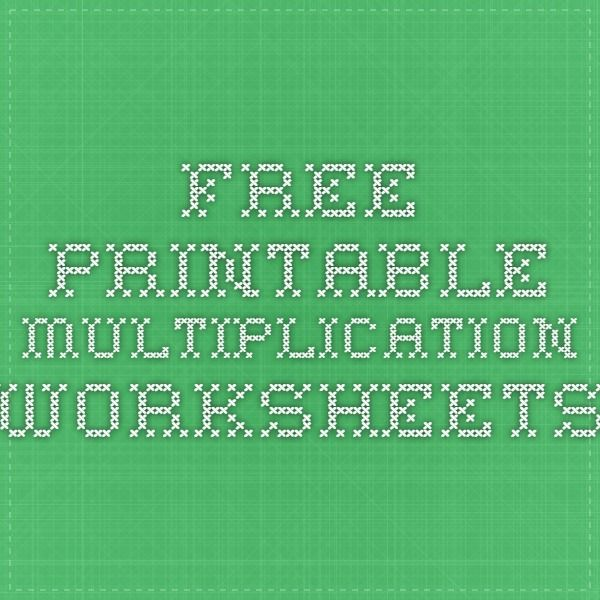 25 best ideas about Free printable multiplication worksheets on – Make Your Own Multiplication Worksheet