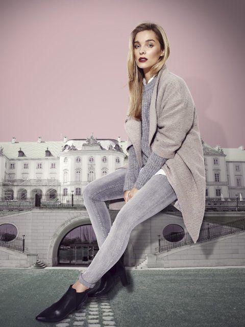 Znalezione obrazy dla zapytania sweter oversize minimalizm stylizacje