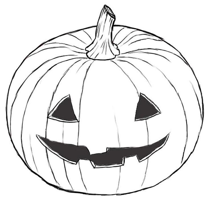 50 best dessin coloriage images on pinterest adult - Citrouille halloween dessin ...