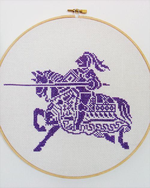#medieval #knight #cross #stitch