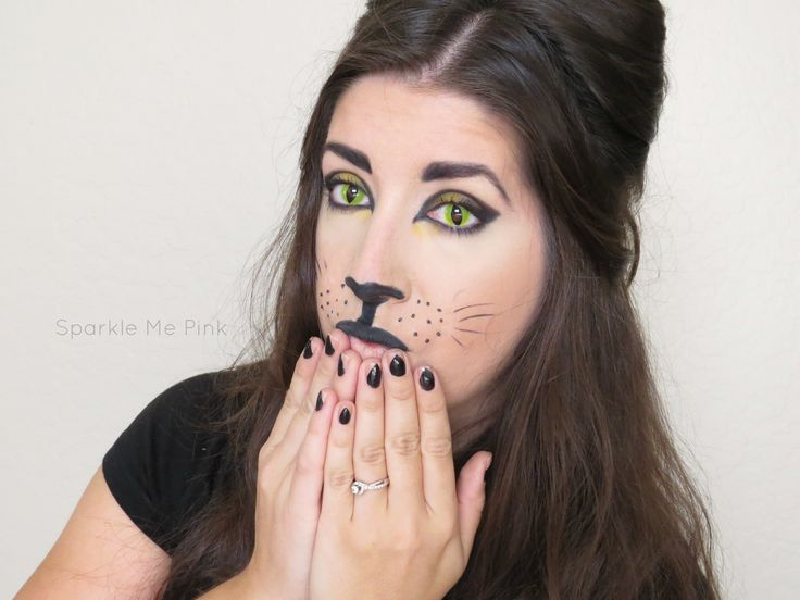 Silly Cat - Claw Nails - Cat Halloween Makeup - Cat Eyes - Colored Contacts