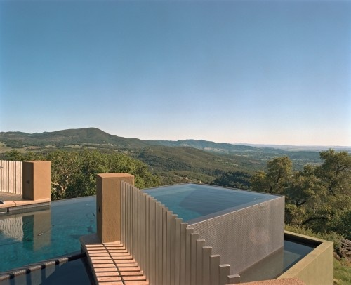 An infinity edge pool heated with natural gas is the best vantage point from which to view the pièce de résistance of the property ...