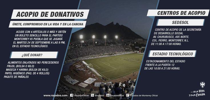 Acude con 4 artículos o más y obtén un boleto sencillo para el partido de mañana en #CopaMX de #Rayados vs. Puebla. Información en la imagen.