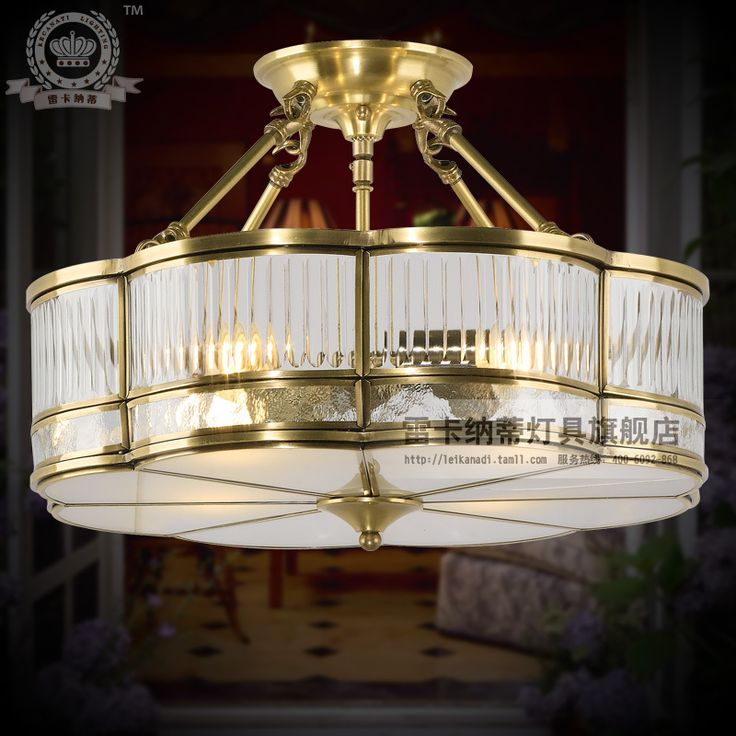 Cheap Lamp Fitting Buy Quality Infocus Directly From China Set Suppliers Fashion Copper Pendant Light Living Room Lamps Lighting Small Series