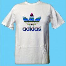 #Adidas #logo #Aztec #pattern #T-Shirt #blue #comfortable #stylish #new
