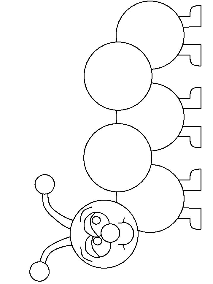 Print coloring page and book, Caterpillar2 Animals Coloring Pages for kids of…