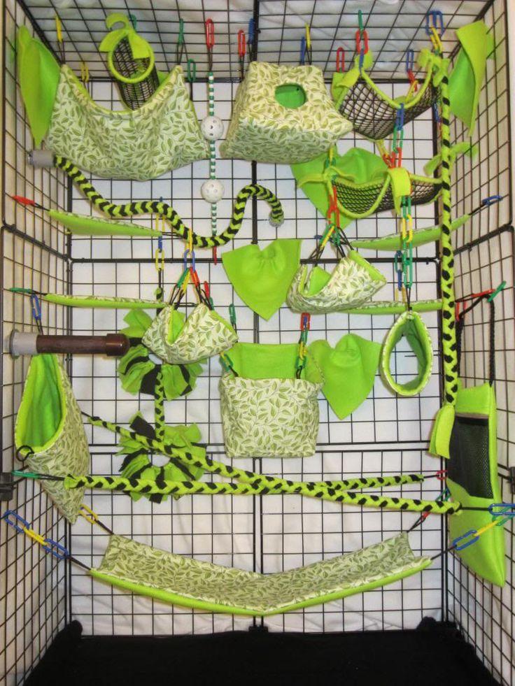 28pc Exclusive Bedding Sugar Glider Cage SET RAT Toys Jungle Theme | eBay