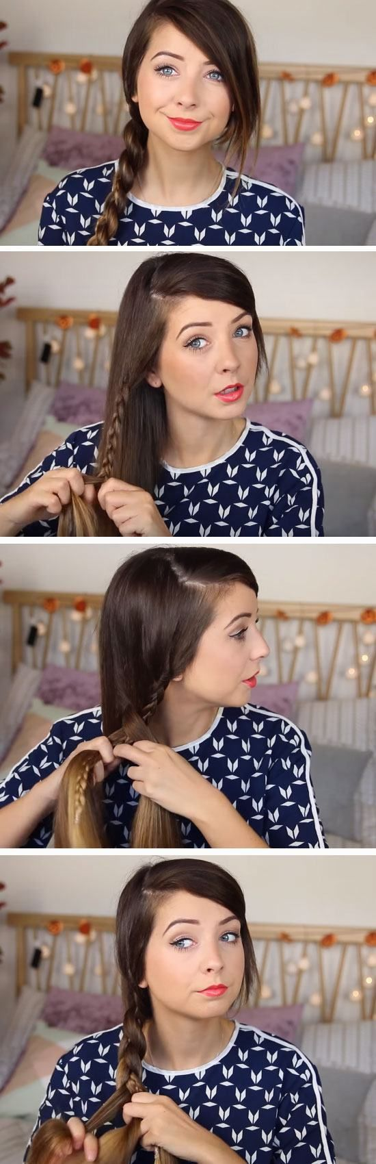Braid within a Braid | 18 Easy Running Late Hairstyles for School that will get you out of a fix!