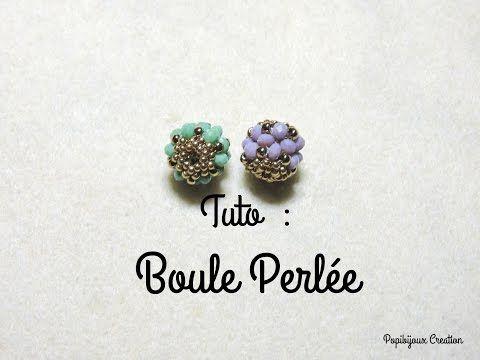 TUTO BOULE PERLEE (partie 1) - YouTube