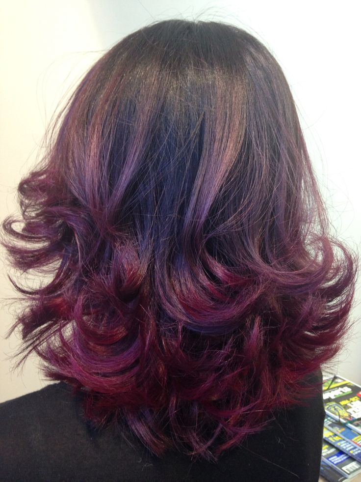 Ombr hair violine faitmainbyarmonie ombr s couleurs m ches pinterest cheveux - Coupe ombre hair ...
