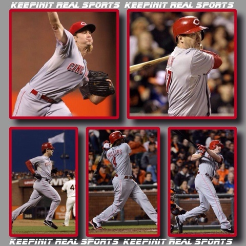MLB: National League Division Series  Reds 9 Giants 0 FINAL  Cincinnati leads 2-0