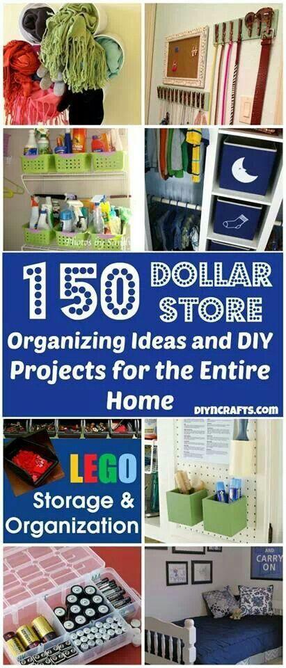 Dollar Store Organizing Ideas  #KathyClulow 905.852.6143 www.KathyClulow.ca