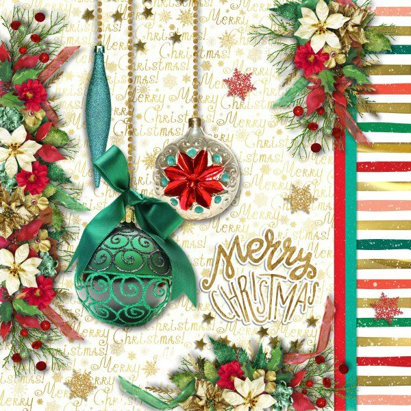 Kit Christmas Shimmer by Raspberry Road Designs. Template Ode to Joy by Heartstrings Scrap Art