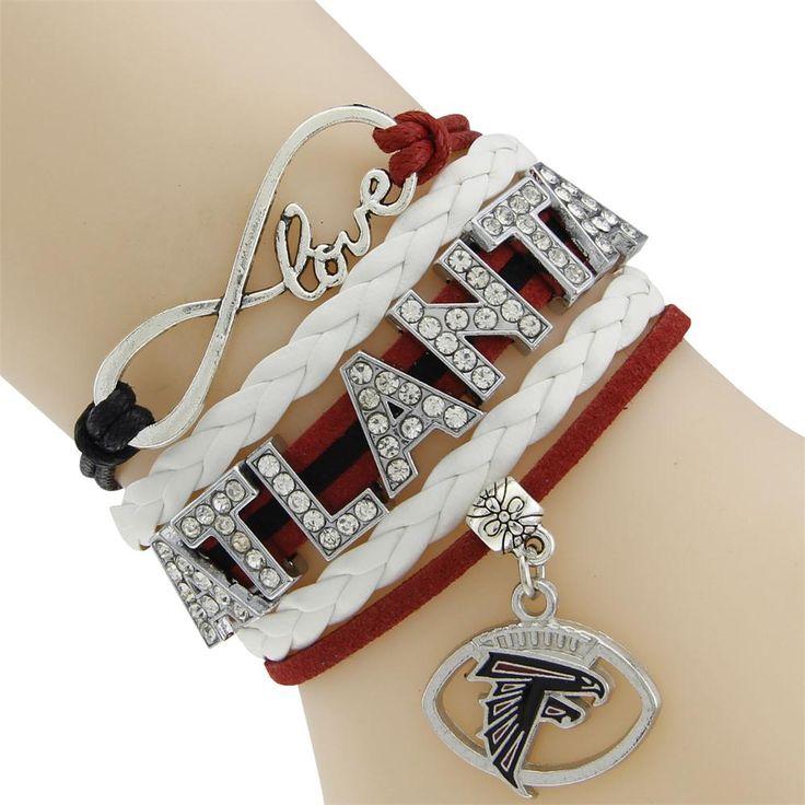 NFL Atlanta Falcons Multi-Strand Friendship Infinity Charm Bracelet Sports Football Team Free Shipping #Affiliate