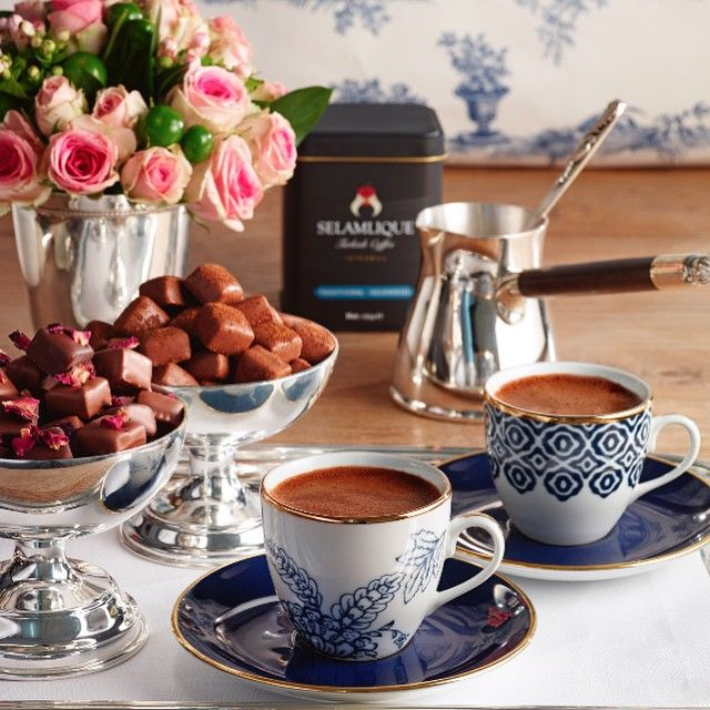 Turkish coffee and praline ❤️☕️ / selamliqueistanbul