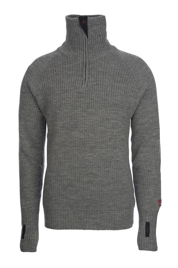 Rav Sweater w/zip - grå fra Ulvang