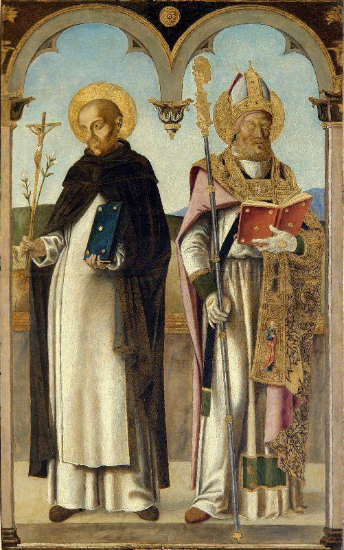 Saint Dominic and Saint Augustine of Hippo / Santo Domingo y San Agustín de Hipona / I santi Domenico e Agostino di Ippona // 1500-1510 // Bastiani Lazzaro // Museo Correr, Venice