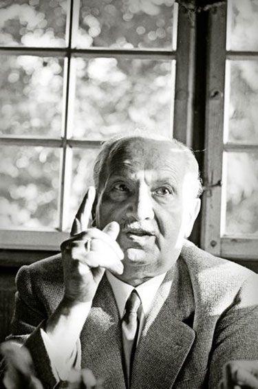 Martin Heidegger at his house in Todtnauberg, January 1966