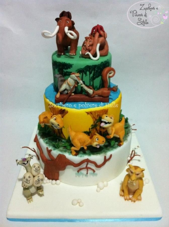This Cake is inspired by the Ice Age 3: dawn of the dinosaurus