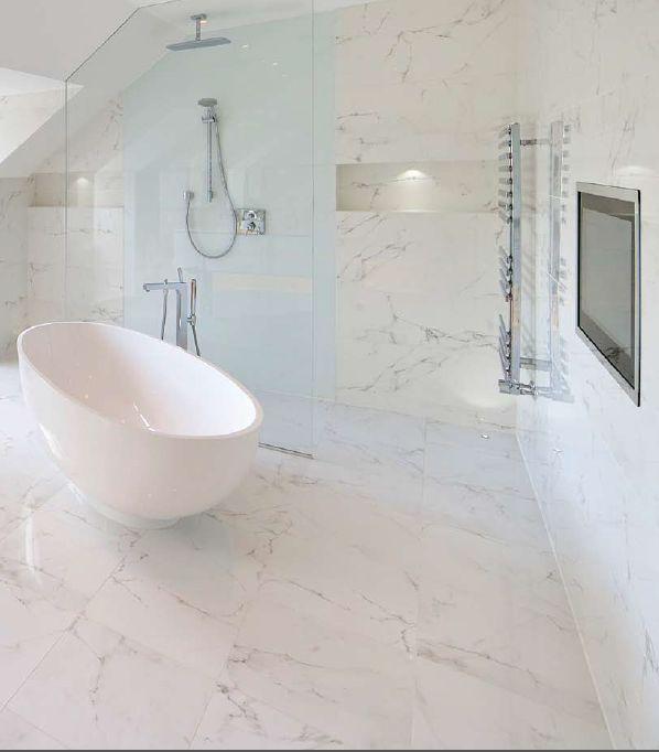 Room scene of Classic Marble High Definition Porcelain - Calacatta -  Anatolia Tile