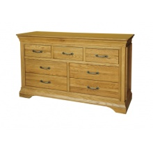 Solid Oak - FRC7 Lyon Oak 3 over 4 Chest of Drawers  www.easyfurn.co.uk