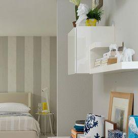 oltre 25 fantastiche idee su parete dietro il letto su pinterest ... - Decorare Con Pareti Grigie