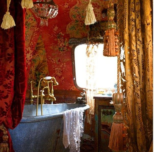 a gypsy bathroom in an Airstream trailor!