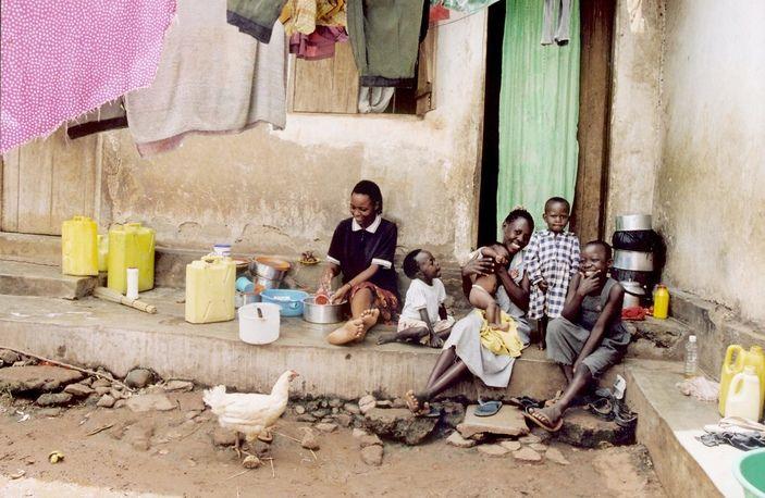 Family gathering, Nr. Kampala, Uganda