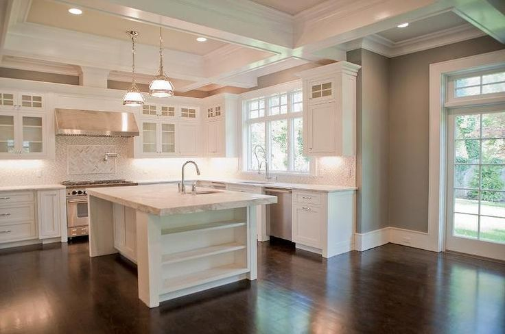 Coffered Kitchen Ceiling Transitional Kitchen Muralo