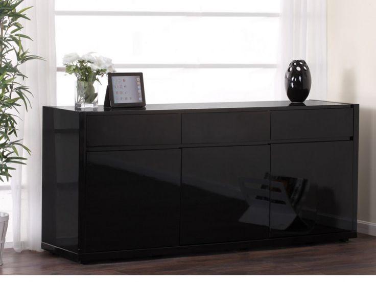 1000 id es propos de buffet noir laqu sur pinterest meuble tv noir ros - Buffet laque pas cher ...