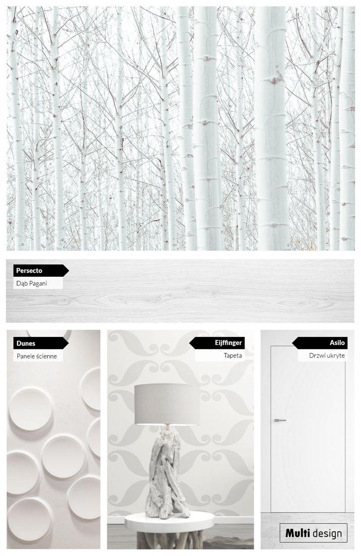 Wnętrza w odcieniach złamanej bieli i jasnej szarości. Idealne, by wprowadzić do domu klimat brzozowego lasu.