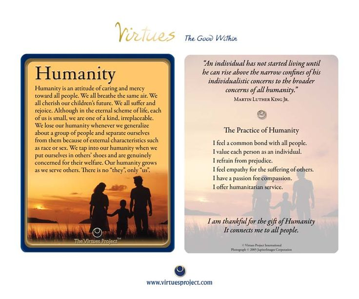virtues project The virtues project is not about the practices or beliefs of any particular religion it  is based on the simple wisdom of the world's diverse cultures and religions.