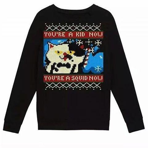 What is Winter without #uglysweater ? Buy it here http://rdbl.Co/1MuMe1r or follow link in Bio!  #splatoon #Nintendo #sweatshirt #clothing #inkling #youreakidyoureasquid #gift #vidogames #inkopolis #fresh #design #Judd
