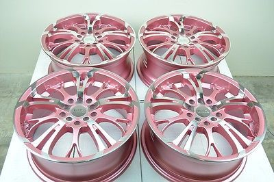 16 pink Wheels MX5 Beetle Golf Jetta GTI Elantra Sonata Civic 5x100 5x114.3 Rims