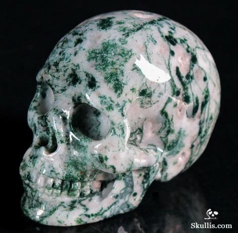 ✿ Tree Agate Crystal Skull ~ It is said to encourage inner peace through certainty and bring awareness of personal strengths, creating security and stability ✿