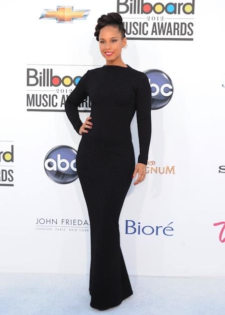 Alicia Keys, Billboard Music Awards 2012. Liking the hair and overall look. Sleek and elegant.
