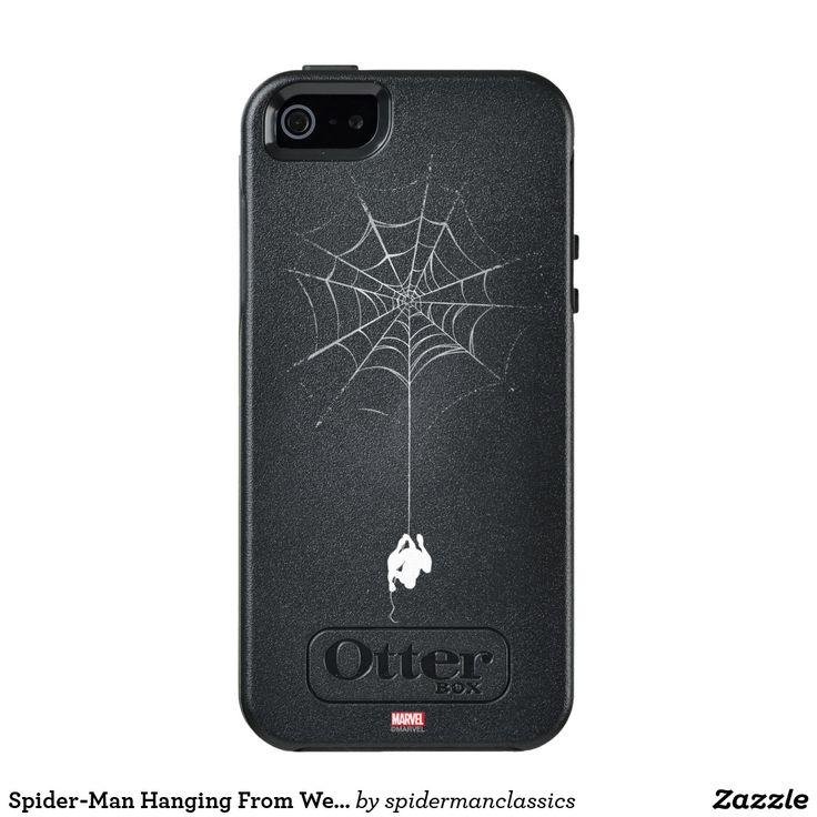 Spider-Man Hanging From Web Silhouette OtterBox iPhone 5/5s/SE Case #superhero #Marvel #spider-man #spiderman #comics #official #licensed #merchandised #home #office #personal #communication #gadget #iphone #samsung #cover #case