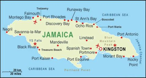 Jamaica Holiday Resorts Map. Went to Montego Bay.