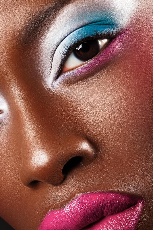 Neon Pastels brown skin makeup