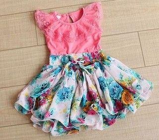 vestido Infantil Floral Tuttu Frete Grátis
