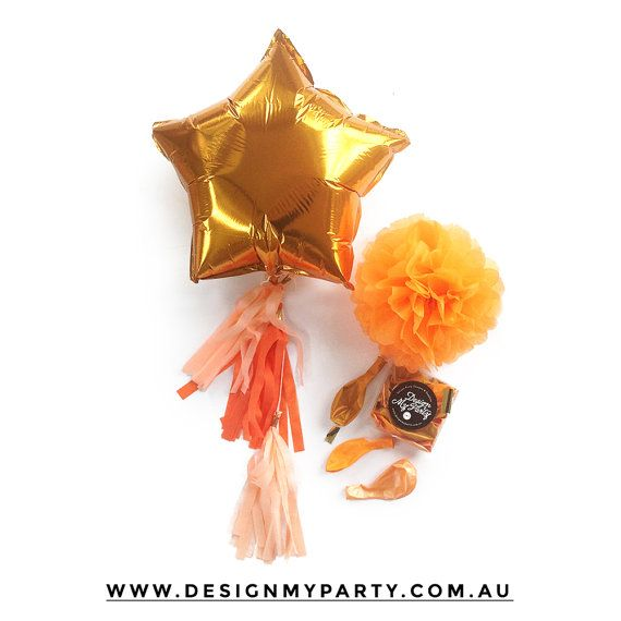 Foil Balloon with Tassel by DesignMyPartyShop on Etsy