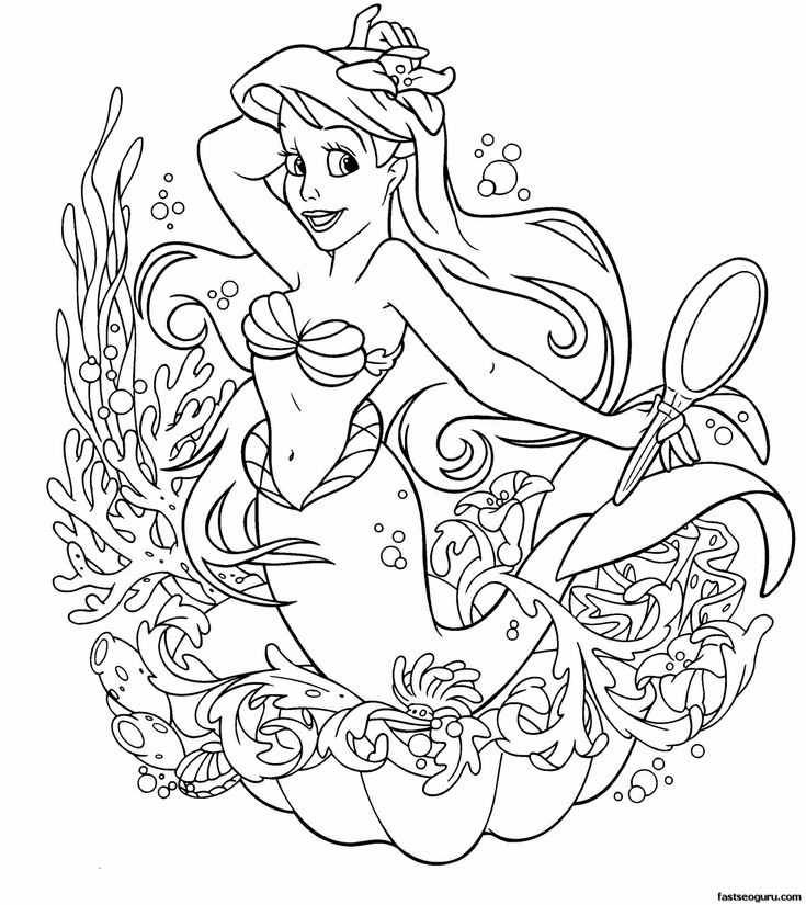 155 best coloriages la petite sirène images on pinterest disney